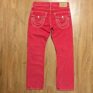 True Religion Men's Red Denim